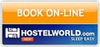 Book On-Line through HostelWorld